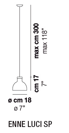 Diagrama lámpara de techo Enne Luci de Vistosi