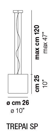 Diagrama lámpara de techo Trepai de Vistosi