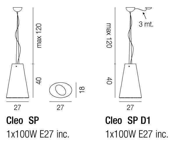 Diagramas Cleo colgante