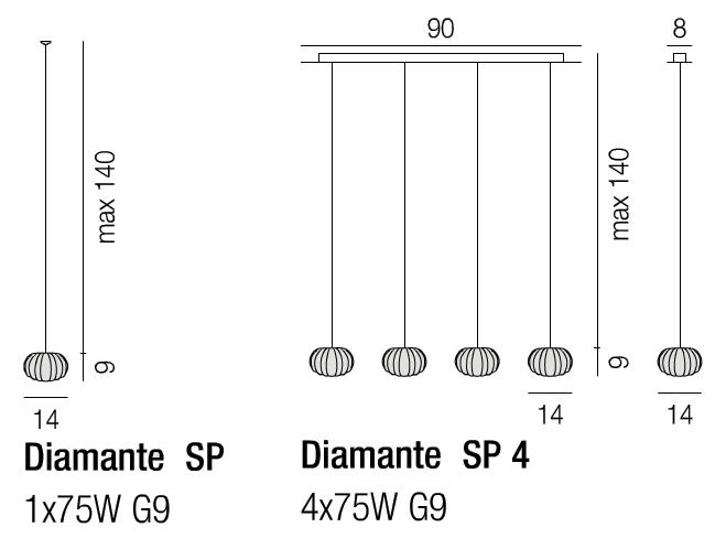 Diagrama Diamante colgante