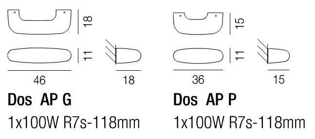 Diagramas Dos aplique de pared