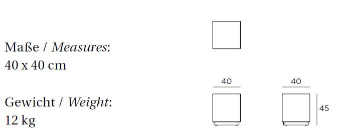 Medidas cubo con luz VITEO OUTDOORS