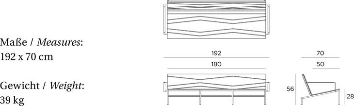 Medidas sofá de jardín Bandoline VITEO OUTDOORS