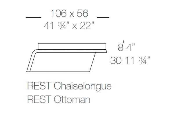 Diagrama Chaise Longue Rest de Vondom