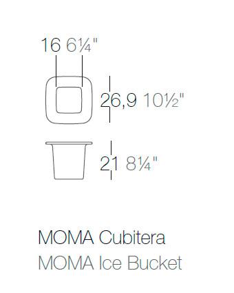 Diagrama cubitera Moma de Vondom