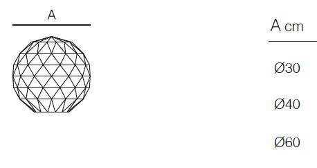 Diagrama de Lámpara Bola Vases de Vondom