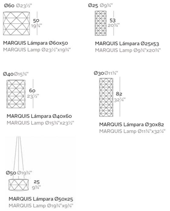 Diagrama lámpara Marquis de Vondom