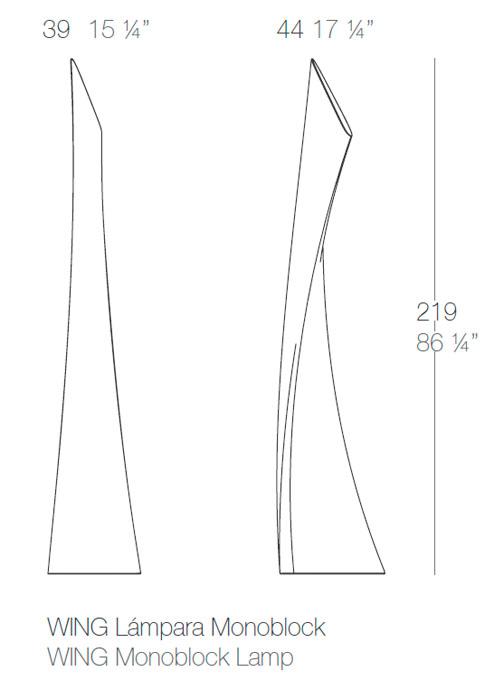 Diagrama lámpara Wing de Vondom