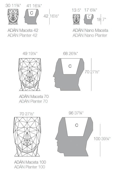 Diagrama maceta Adán de Vondom