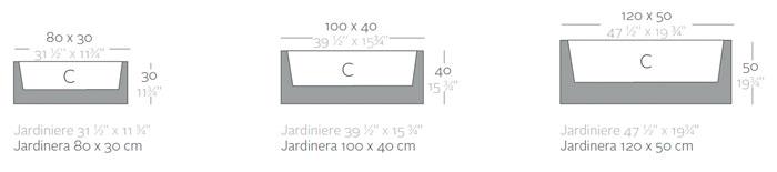 Diagrama Jardinera de Vondom