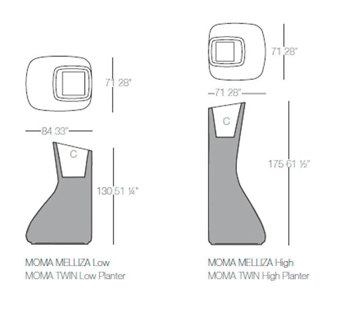 Diagrama macetas Momas Mellizas de Vondom
