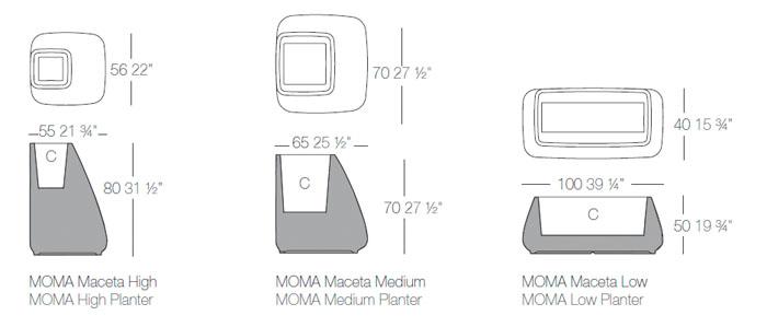 Diagrama maceta Moma de Vondom