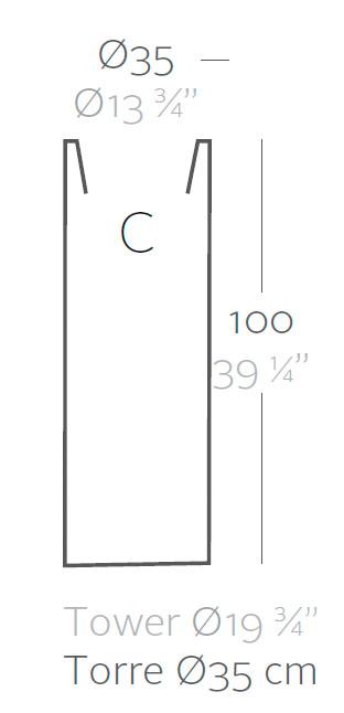 Diagrama Maceta Torre de Vondom