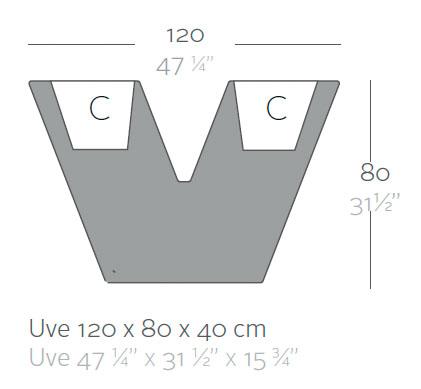 Diagrama maceta Uve de Vondom