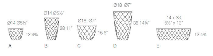 Diagrama maceta Vases nano de Vondom