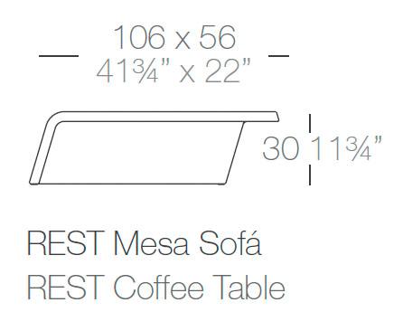 Diagrama mesa de centro Rest de Vondom