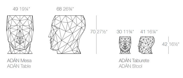 Diagrama salón Adán de Vondom