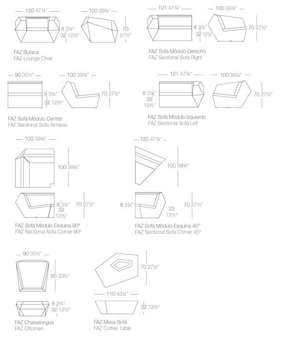Diagrama Salón Faz de Vondom