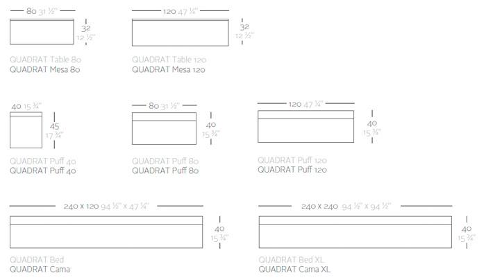 Diagrama salón Quadrat de Vondom