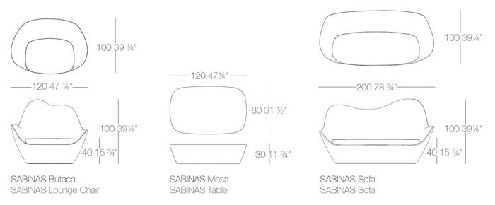 Diagramas colección Sabinas de Vondom