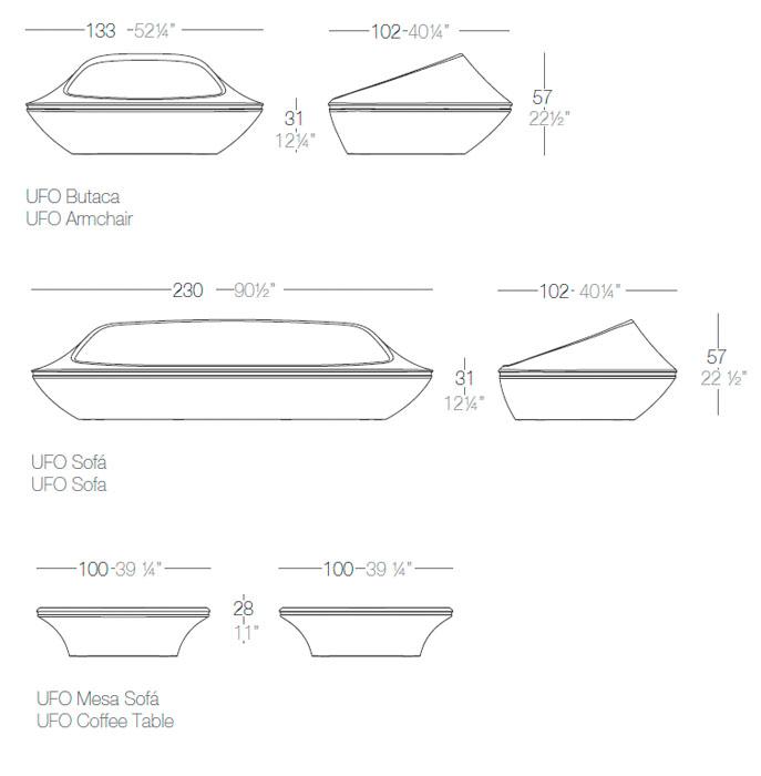 Diagrama salón Ufo de Vondom