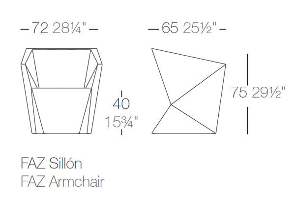 Diagrama sillón Faz de Vondom
