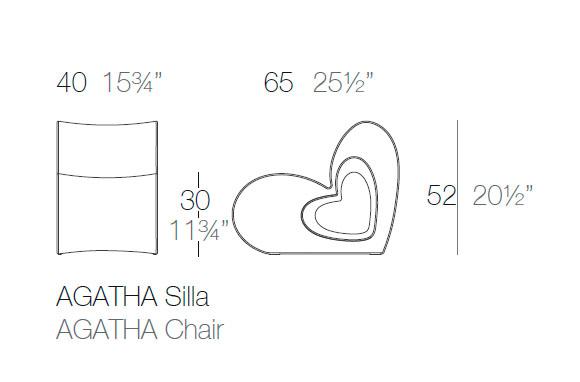 Diagrama silla Agatha de Vondom