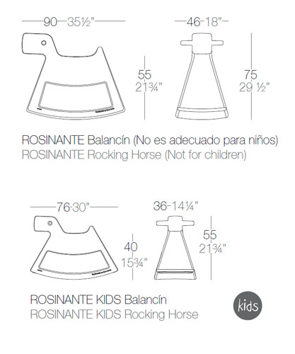 Diagrama silla balancín Rosinante de Vondom