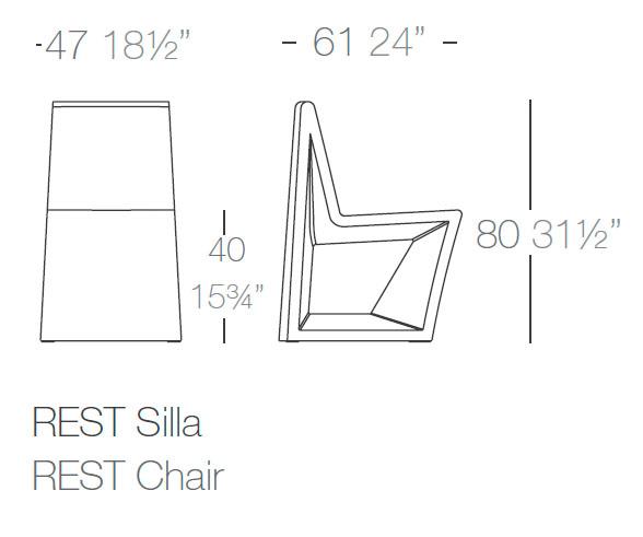 Diagrama silla Rest de Vondom