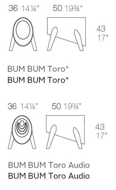 Diagrama taburete o altavoz Bum Bum de Vondom