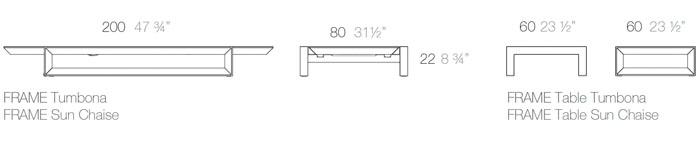 Diagrama tumbona Frame de Vondom
