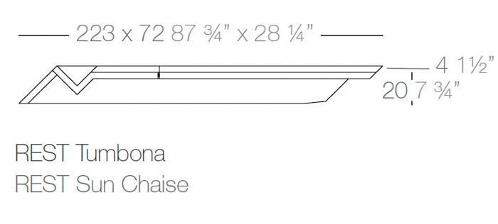 Diagrama tumbona Rest de Vondom