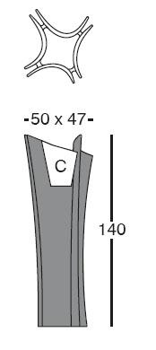 Diagrama de maceta Alma de Vondom