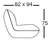 Diagrama de butaca Pillow de Vondom