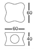 Diagrama de mesa de diseño Doux de Vondom