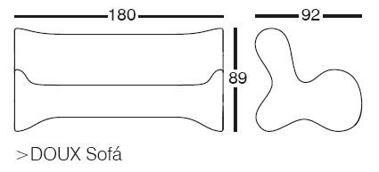 Diagrama de sofá de diseño exterior Doux de Vondom