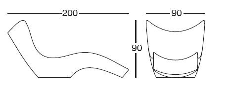 Diagrama de chaiselongue de diseño Surf de Vondom