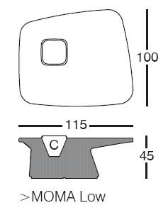 Diagrama de macetamesa Moma Low de Vondom