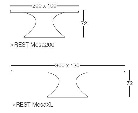 Diagrama de Mesa Rest de Vondom