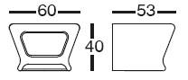 Diagrama de mesa taburete de exterior Pal de Vondom
