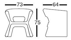Diagrama de sillón de diseño Pal de Vondom