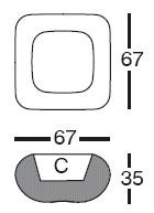 Diagrama de macetero Pillow de Vondom