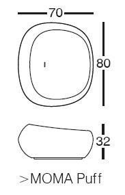 Diagrama de puf Moma low de Vondom