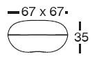 Diagrama de puff Pillow de Vondom