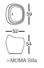 Diagrama de silla Moma medium de Vondom