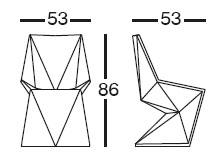 Diagrama de silla de diseño Vertex de Vondom