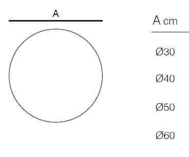 Diagrama de esfera con luz Bubbles de Vondom