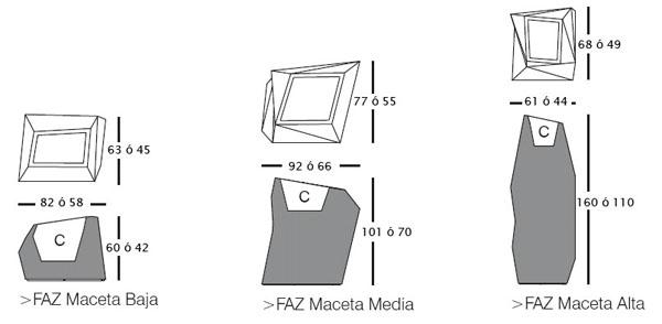Diagrama de macetas de diseño Faz de Vondom