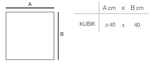 Diagrama de Lámpara Kubik de Vondom