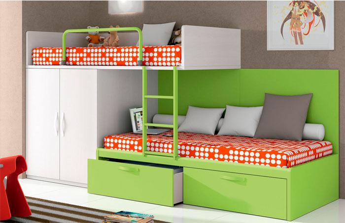 Dormitorios juveniles modernos en for Muebles infantiles modernos